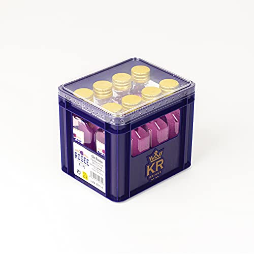 Rosée Mini Cajon Gin Rosée, 50 ml X 8Ud, 30°%Vol, Ginebra Rosa Que Destaca por su Suavidad y Delicado Sabor A Fresas, Botellas de Licor Miniatura - 400 ml