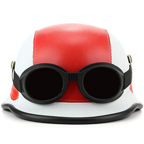 LOUDelephant Combat Neuheit Festival Helm mit Brille Gr. One size, rot / weiß