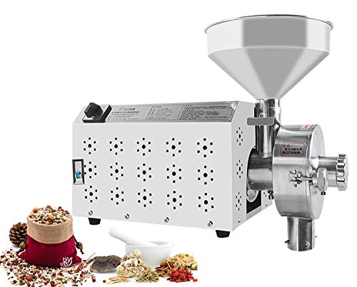 CGOLDENWALL Commercial Stainless steel Spice and Chinese Herb Grinder Industrial Electric Peppe...