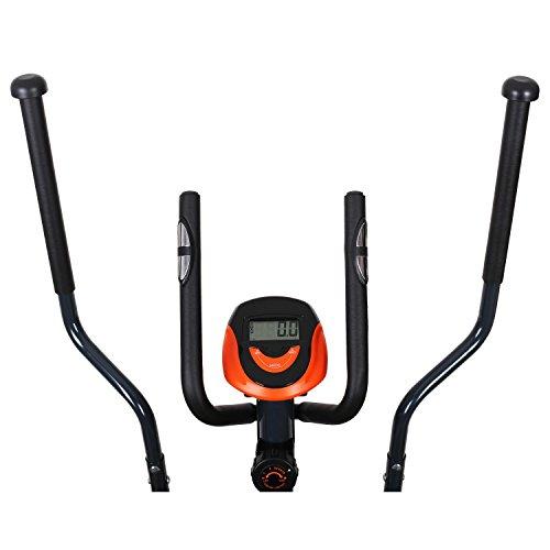 Klarfit Ellifit FX 250 – Nordic Walking Ellipsentrainer, Crosstrainer, Handpulsmesser, Trainingscomputer, 8 Stufen Widerstand, für Personen mit einem Gewicht bis 110kg, schwarz-orange - 5