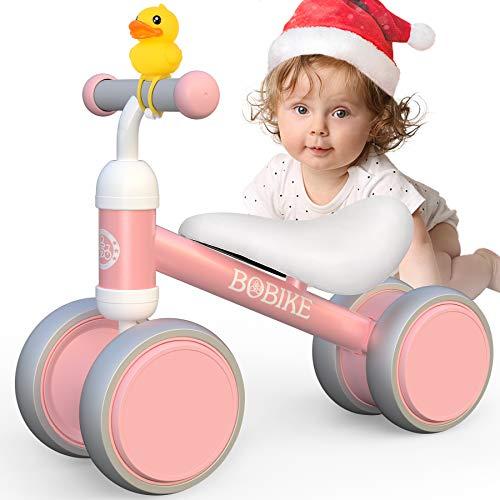 Bicicletta Senza Pedali Equilibrio Giochi 1-2 Anno Bambini Bambino Bimba Bici Senza Pedali Giocattoli Regali Primi Passi GiocattoliMonopattino per Bambina 12-18 Mesi -Rosa