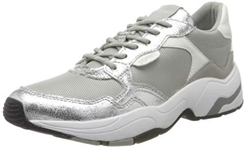 ESPRIT Damen Jana Met LU Sneaker, Silber (Silver 090), 41 EU
