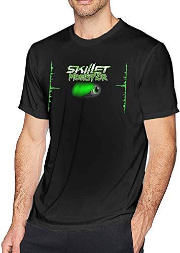 Dantoni Skillet Monster T Shirt Men's Fashion Cotton Round Neck Short Sleeve Tees Black,4X-Large