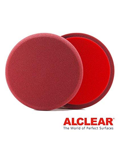 ALCLEAR 5516030 US Cutting Pad, Auto Polierschwämme, Durchmesser: 160x30 mm, brombeere, 2er Set, Polierpad polieren Pad Schwamm Polierschaum f. Poliermaschine