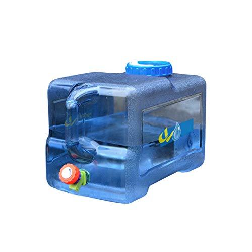 YEES Bidón de agua portátil con tapa y pivotes, sin BPA, de plástico para coche, depósito de agua para camping, picnic, exterior, barbacoa y viajes largos