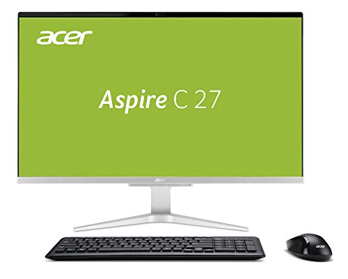 Acer Aspire C27-865 - PC All-in-One da 68,58 cm (27 pollici Full HD) (GeForce MX130, 8 GB di RAM, 1000 GB HDD, SSD da 256 GB, Intel UHD, Win 10 Home) nero/argento