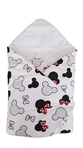 BlueberryShop - Saco de dormir clásico para asiento de coche (algodón 0-3 m) (78 x 78 cm), diseño de jirafa color crema (blanco Minnie)