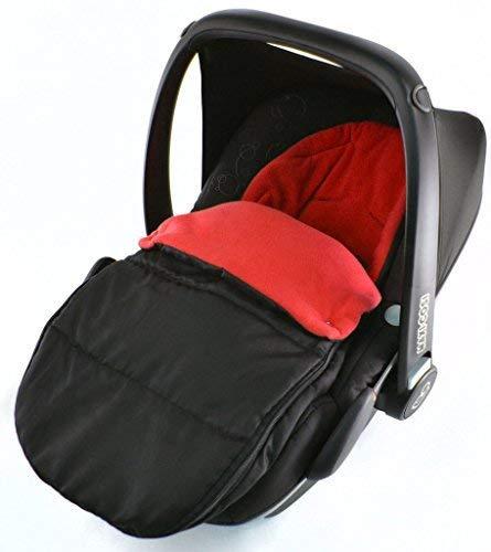 Autositz Fußsack/COSY TOES kompatibel mit Bebecar Easy Maxi New Born Autositz Fire Rot
