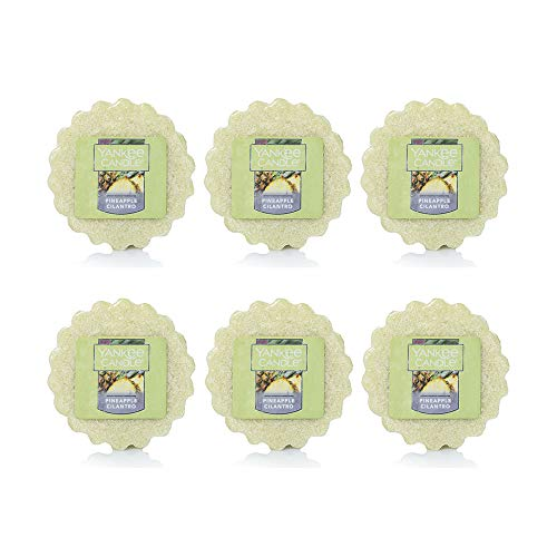 Yankee Candle Pineapple Cilantro Scented Tarts Wax Melts - Set of 6