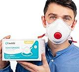 health2b FFP3 Maske CE Zertifiziert [5 Stück] CE1463 Atemschutzmaske Mundschutz mit Ventil