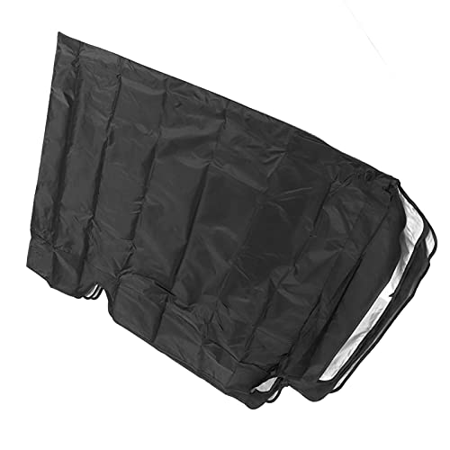 Jacksing Cubierta de Lluvia Superior para Columpios, Parasol Cubierta de toldo Columpio Protección Solar para Patios para Jardines(Black, Three Seats 195 * 125 * 15cm)