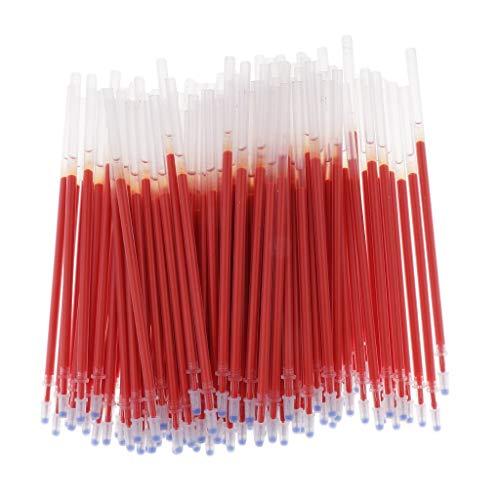 100pcs Gel Pen Refills 0.5mm Ink Gel Pen Refills for Needle Tip Liquid Gel Pen/Rollerball Gel Ink Pen - Needle Tip Red