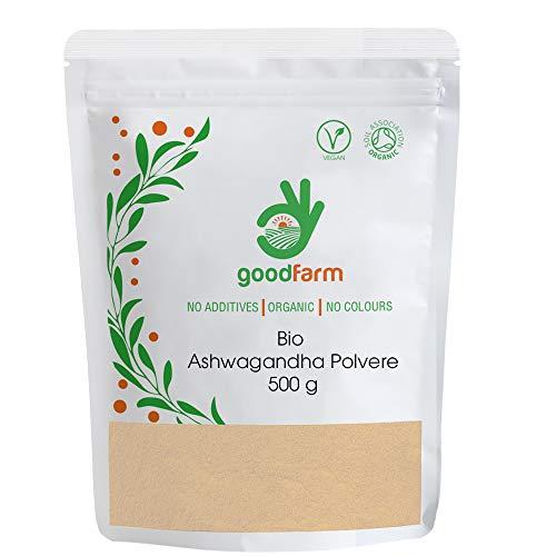 GoodFarm, Polvere di ashwagandha biologica, 500 g