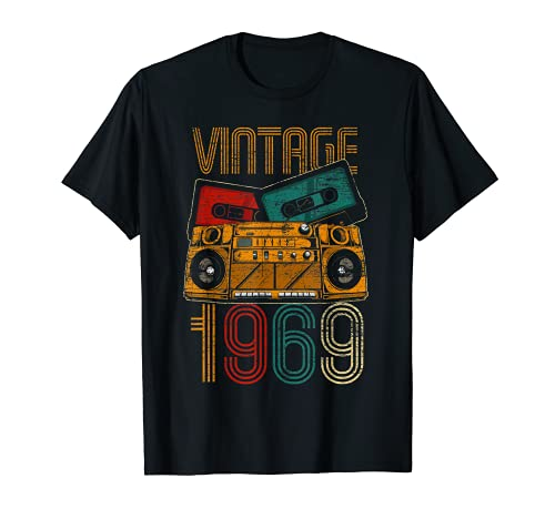 52 Cumpleaños Hombre Mujer 52 Años Vintage 1969 Camiseta