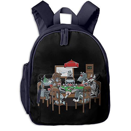 ADGBag Kinderrucksack Schultasche Robot Dogs Playing Poker Funny Dog Children's/Kids School/Nursery/Picnic/Carry/Travelling Bag Backpack Daypack Bookbags