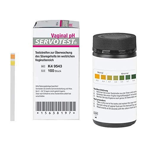 100x Servotest® qualitäts pH Indikatorstreifen, pH Teststreifen, vielseitig anwendbar, pH Parameter 4.0 bis 7.0