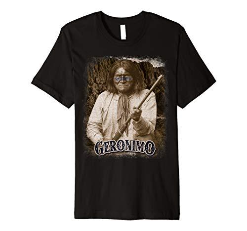 Geronimo T Shirt Apache Warrior Native American T-Shirt