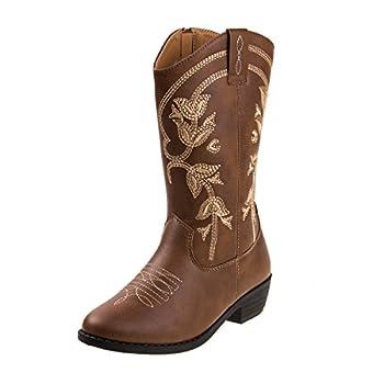 Kensie Girl Kids Western Cowboy Boot Size 3 Big Kid Brown