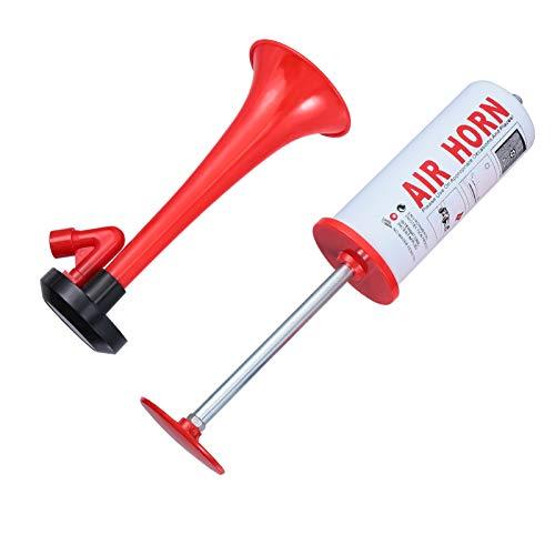 Gadpiparty Fußball Trompete Handpumpe Horn WM Cheerleading Trompete Sportfans Horn Kunststoff Trompete mit Zapfsäule Zübehor für Fußball und Sportfeiern