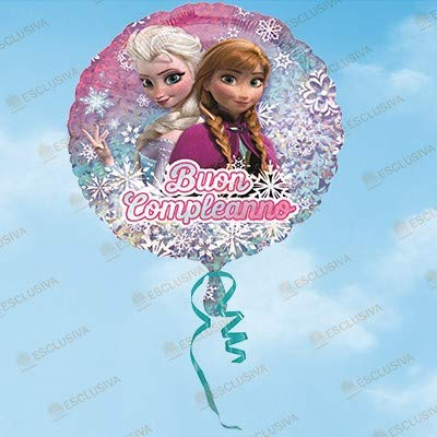 ILS I LOVE SHOPPING Pallone Foil 42cm Multicolore per Festa Compleanno Frozen Buon Compleanno (Frozen Northern Lights, Pallone Foil Palloncino)