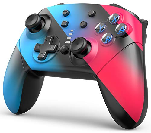 Wireless Switch Pro Controller for Nintendo Switch, 1200mAh Long-Time Play Remote Gamepad Joystick, ABXY Lighting, Support Motion Control Dual Vibration Turbo (Color)
