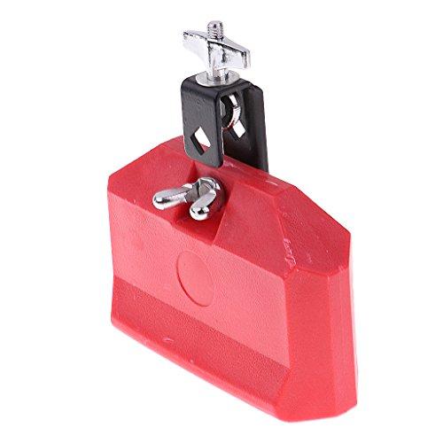 perfk Cencerro Pandereta Ringer Instrument Music Timbre ABS Agudo Durable - rojo, como se describe