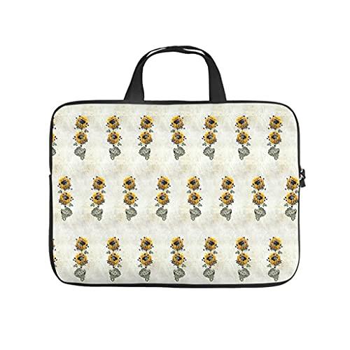 Flores plantas portátil bolsa de diseño de la caja del ordenador portátil bolsa colorido resistente al agua portátil maletín con asa portátil para mujeres hombres blanco 17 pulgadas