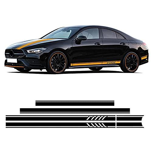 YKANZS Auto Pegatinas de Calcomanías Body Lateral, para Mercedes Benz CLA 45 35 C117 W117 X117 C118 X118 Pegatina de Falda Lateral Capucha calcomanía de Maletero de Techo