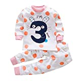 Hopscotch Baby Girls Cotton and Polyester Full Sleeves Polka Dots Printed Top and Pyjama Set in Pink Color for Ages 12-24 Months (Yyz-3157329)