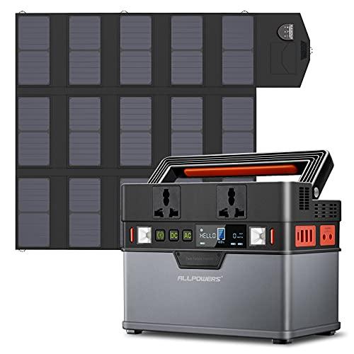 ALLPOWERS Estación de alimentación portátil 288 Wh/78000 mAh generador solar con panel solar Plegable Monocristalin de 100W,batería de litio para actividades al aire libre y camping