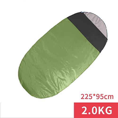Bdclr Kältebeständiger Warmer Schlafsack Für Den Herbst Und Winter Im Freien, Tragbarer Eiförmiger Schlafsack Für Erwachsene,ArmyGreen,1.3kg