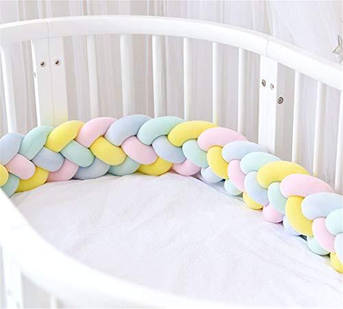 CULASIGN Décoration de garde de tête de protection de bord de lit de bébé pour le tissage de berceau Cot-2.2cm 4 (Jaune bleu rose vert)