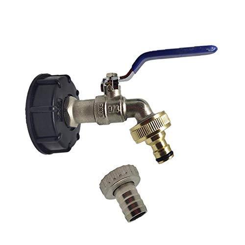 Générique Adaptateur de vidange pour Robinet IBC S60 x 6 pour Robinet de Jardin en Laiton avec buse en Laiton 1,9 cm