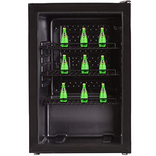 Syntrox Germany Getränkekühlschrank, Showcase, Kühlschrank mit Glastür, geräuscharm, freistehend, 119 Liter