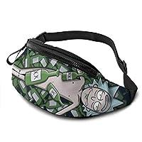 Rick Morty Riñonera ultraligera para deportes al aire libre con agujero para auriculares, cremallera para correr en la cintura para hombres y mujeres