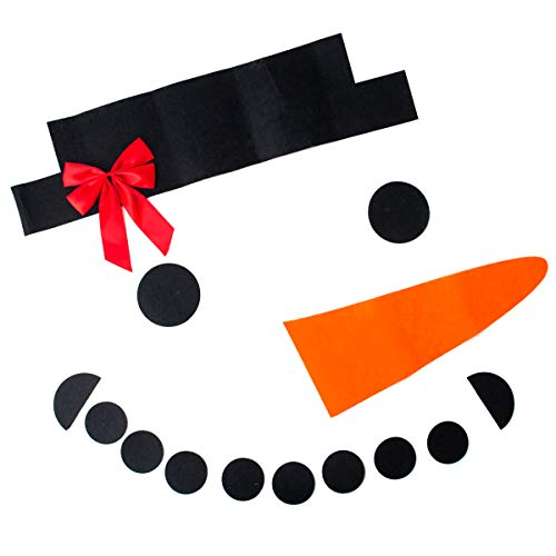 HelloCreate DIY Christmas Snowman Face Decoration Garage Door Window Decor Kit