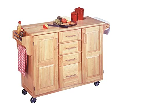 Hot Sale Home Styles 5089-95 Kitchen Center with Breakfast Bar, Natural Finish