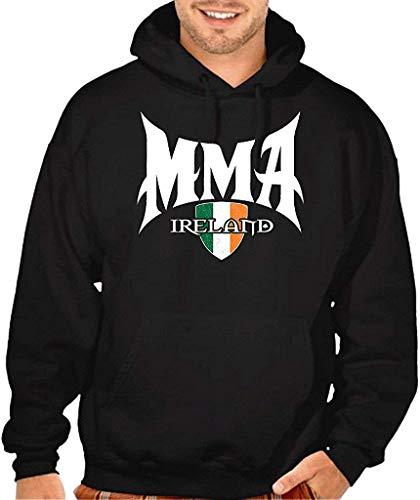 JXZO Herrenpullover MMA Ireland Seal Men's Black Pullover Hoodie Sweater Black