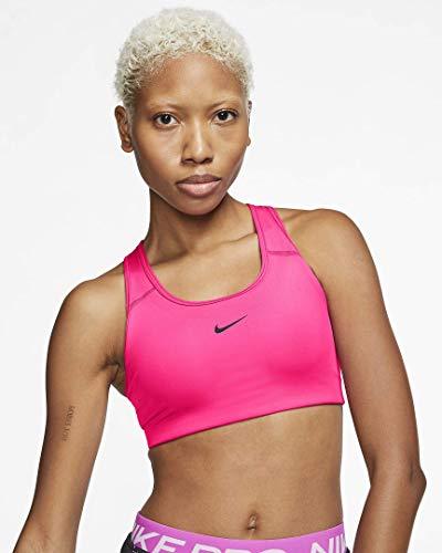 Nike Damen Swoosh Pad BH, Hyper Pink/Black, S