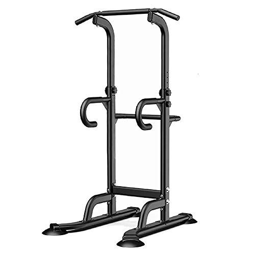 Leasbar Power Tower Exercise Equipment Dip Bar Adjustable Pull Up Bar Stand Dip Station for Home Gym Strength Training Workout