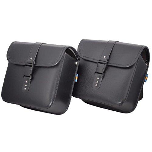 バイク サイドバッグ 防水 2個セット 黒 ツールバッグ ツーリングバッグ サドルバッグ ブラック