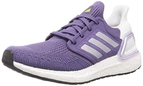 adidas Ultraboost 20 W, Zapatillas de Running Mujer, Tech Purple/Silver Met./FTWR White, 39 1/3 EU