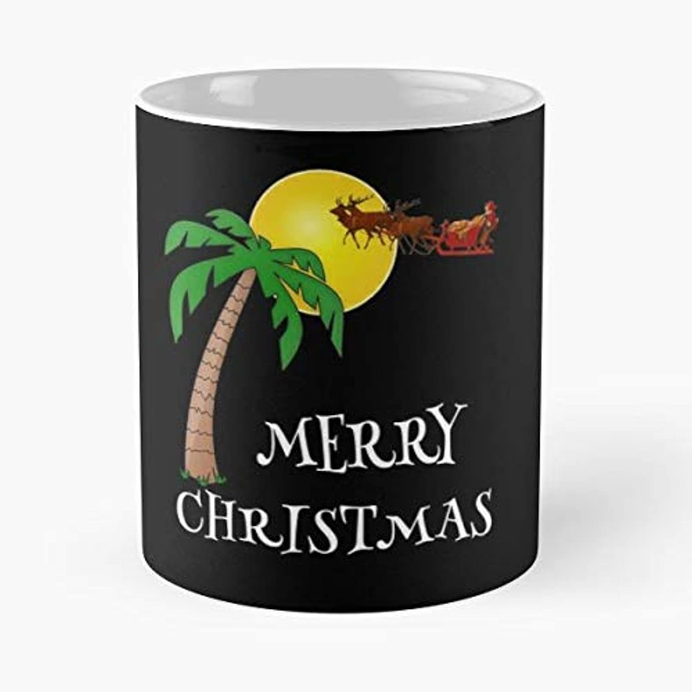 Palm Tree Christmas Hawaiian Hawaii -funny Present For My Greatest Boss Male Or Female, Men, Women, Great Office Gift Mugs, Birthday, Leaving, Bold, Cup, 11 Oz