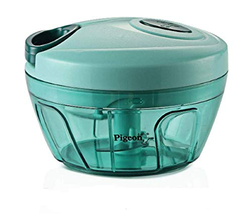 """""""Pigeon"""" by Stovekraft New Handy Mini Plastic Chopper with 3 Blades, Green (BPA FREE)"""