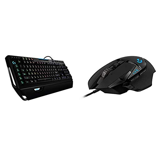 Logitech G910 Orion Spectrum RGB Wired Mechanical Gaming Keyboard & G502 Hero High Performance Gaming Mouse