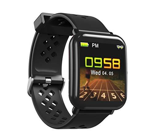 Lemonda D6 - Smartwatch Bluetooth per iOS Android iPhone Samsung Huawei (nero)