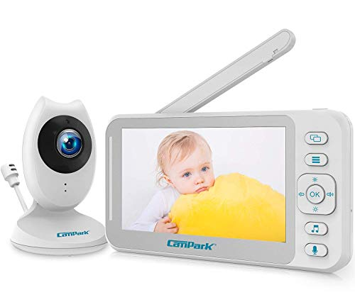 Baby Monitor with Camera and Audio, Campark Video Baby Monitor 4.3'' LCD Split...
