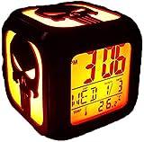 BRFDC Reloj Despertador Punisora Reloj Despertador 3D...