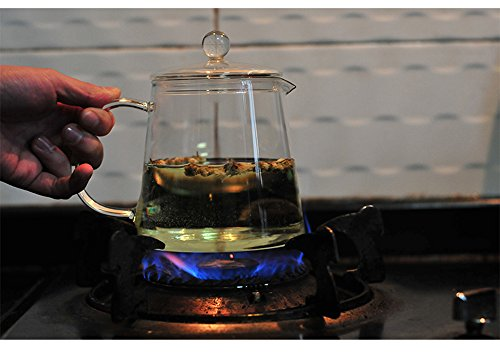 Xiazhi Glass Teapots, Glass Teakettles,Stovetop Safe,1100ml