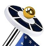 Openuye Solar Flag Pole Lights 26 LED Weatherproof Flagpole Downlight Lightfor Most 15